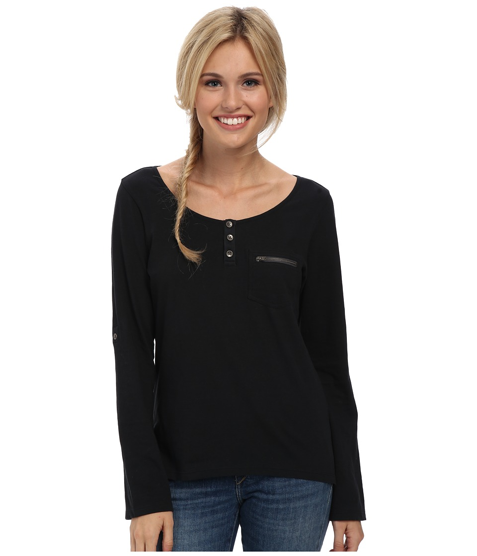 Prana - Jess Top (Black) Women's Long Sleeve Pullover