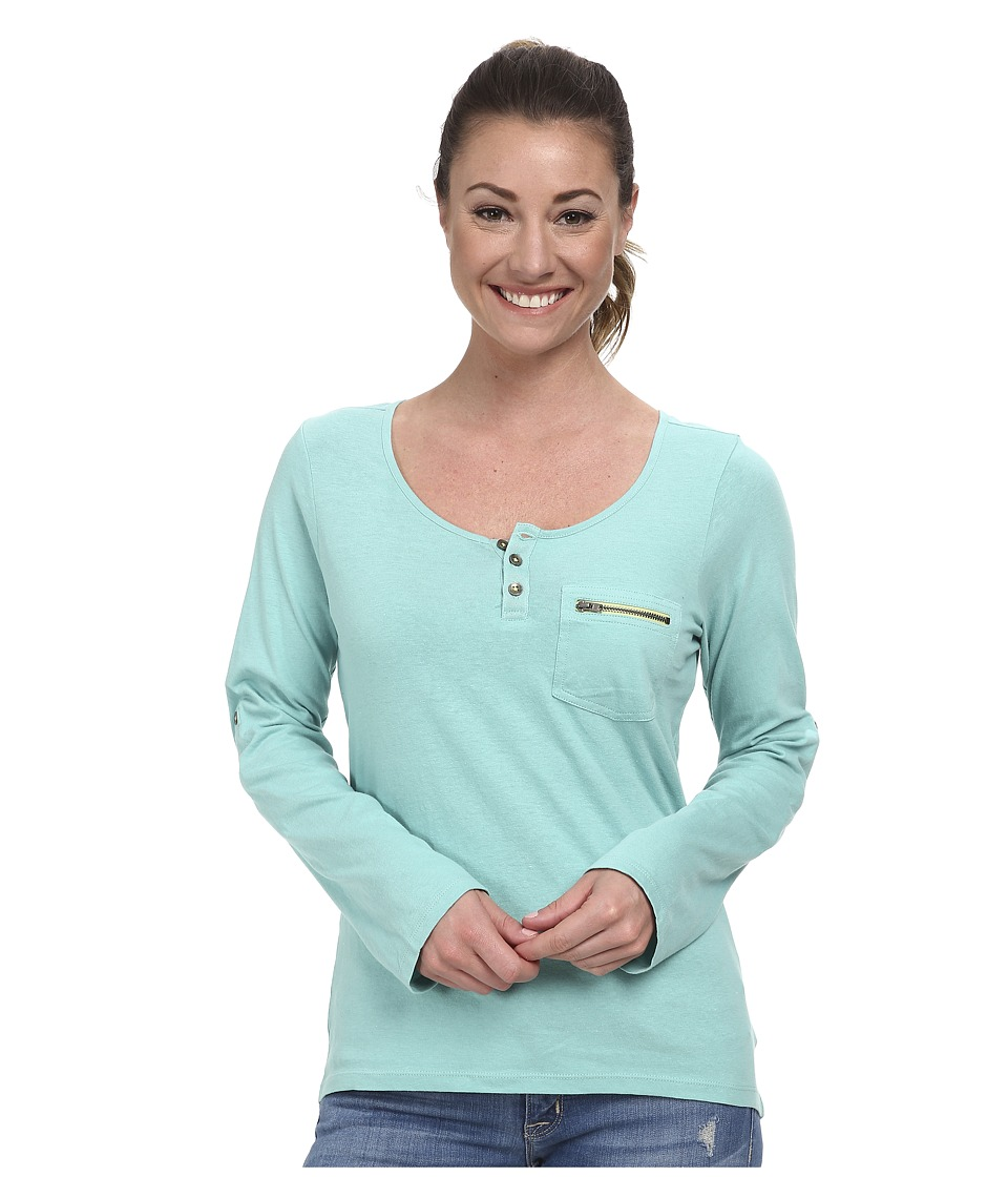 Prana - Jess Top (Dusty Turquoise) Women's Long Sleeve Pullover