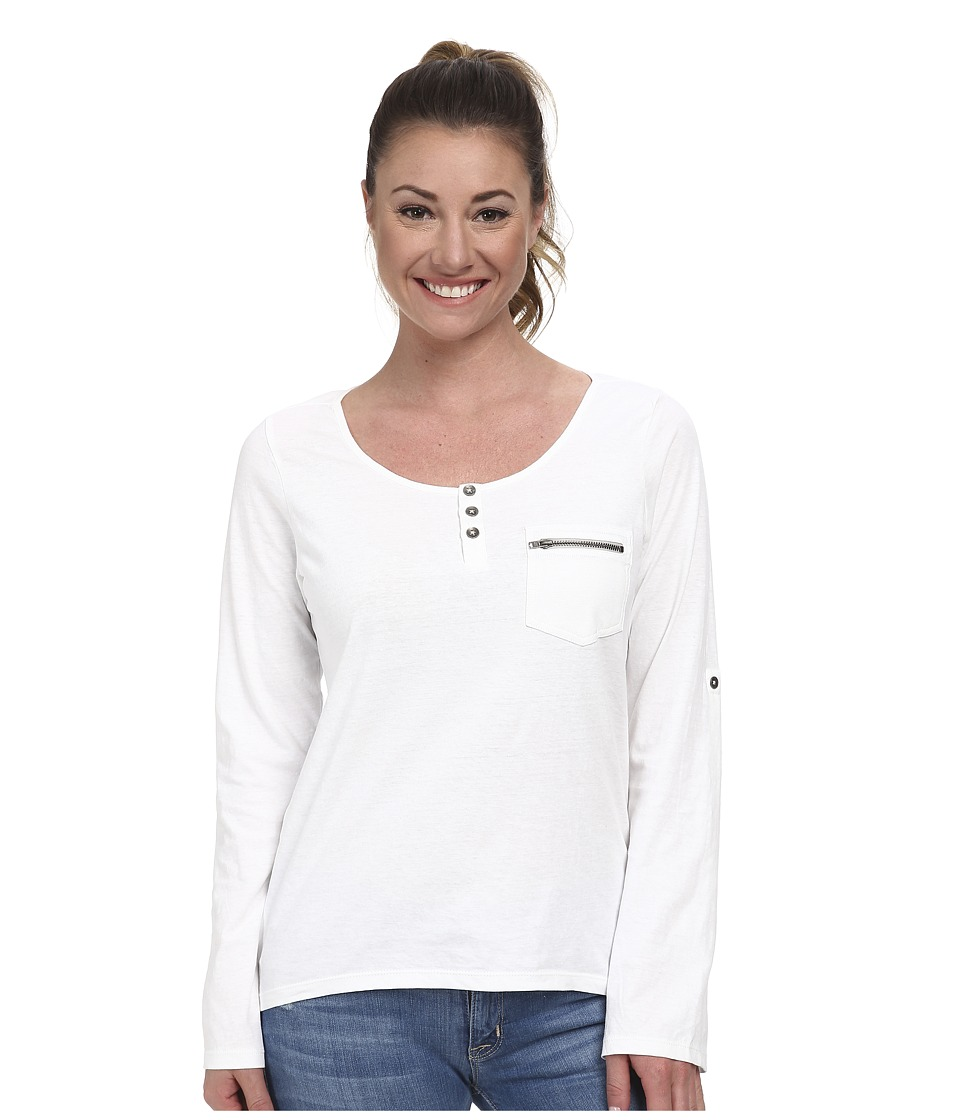 Prana - Jess Top (White) Women's Long Sleeve Pullover