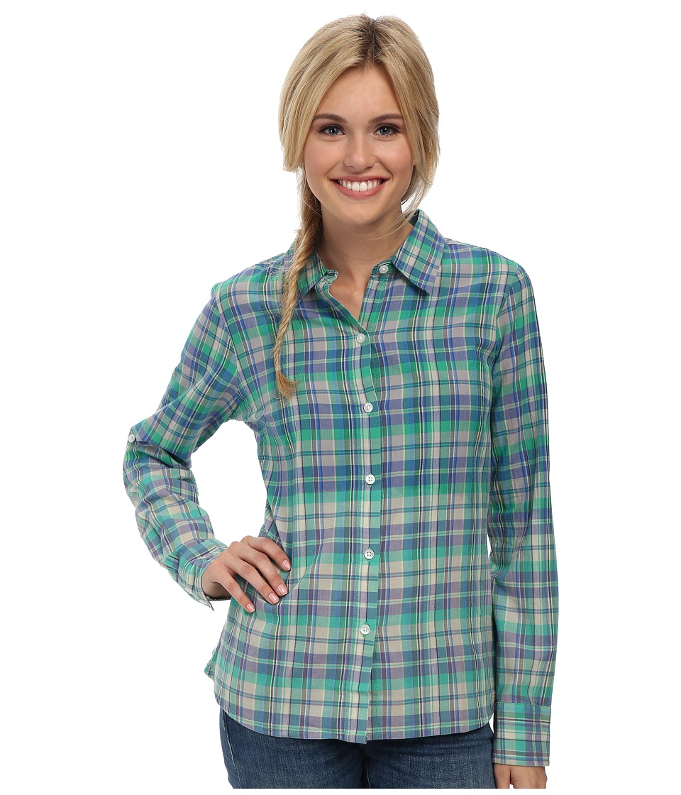 Prana - Britt Top (Cool Green) Women's Long Sleeve Button Up