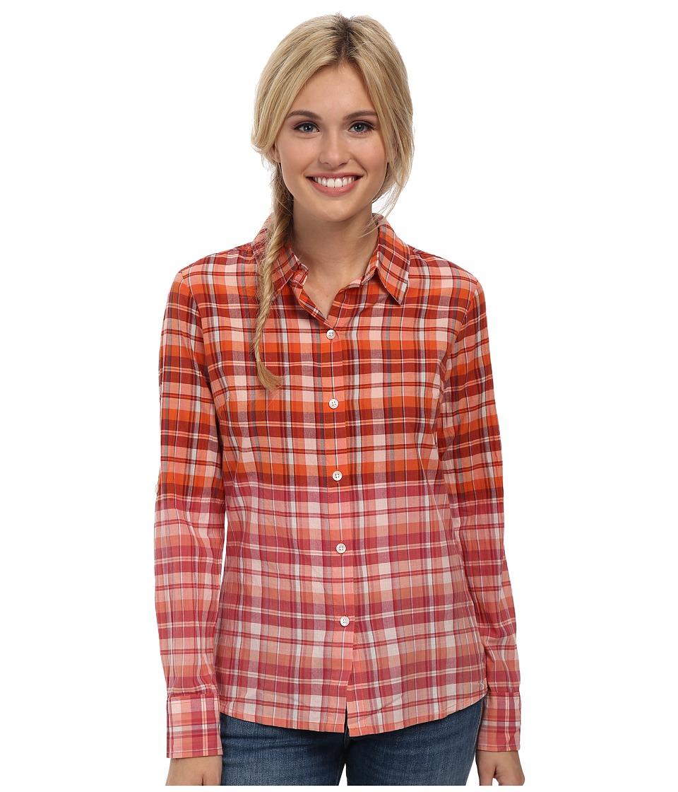 Prana - Britt Top (Electric Orange) Women's Long Sleeve Button Up