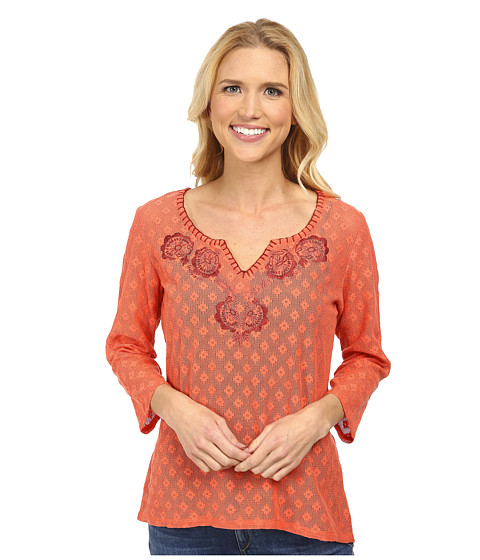 Prana - Winnie Top (Glowing Coral) Women's Long Sleeve Pullover