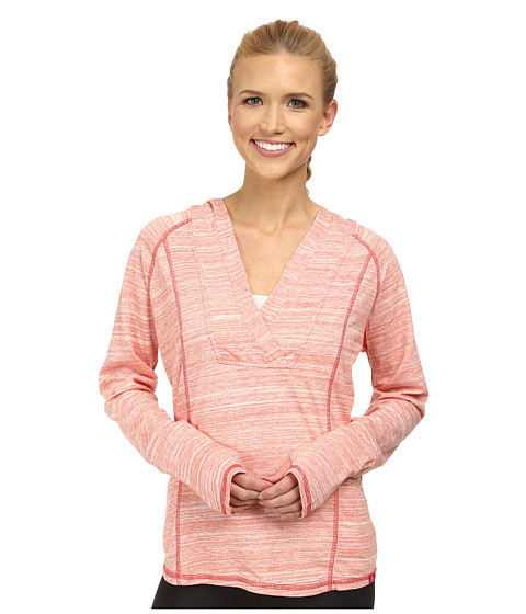 Prana - Demi Top (Neon Orange) Women's Long Sleeve Pullover