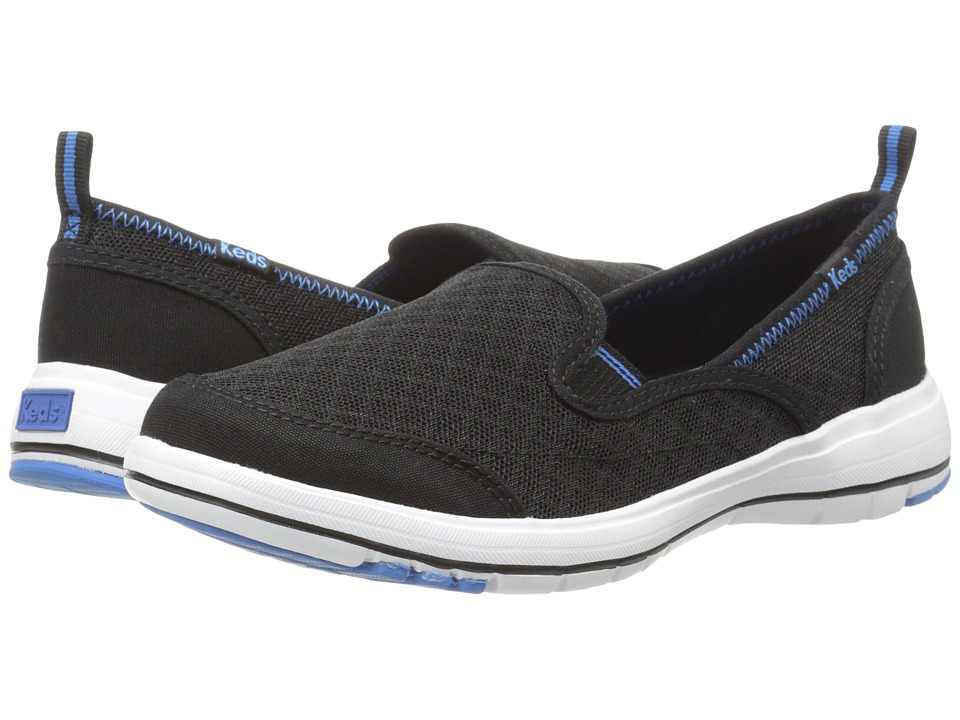 Keds - Brisk (Black Canvas/Mesh) Women