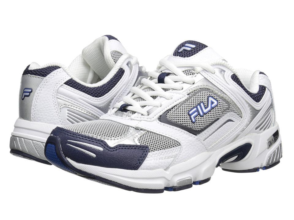 Fila - Decimus 3 (Metallic Silver/White/Fila Navy) Men's Cross Training Shoes