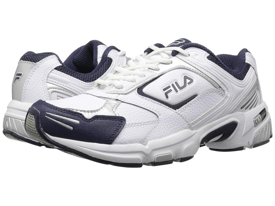 Fila - Decimus 3 (White/Fila Navy/Metallic Silver) Men's Cross Training Shoes