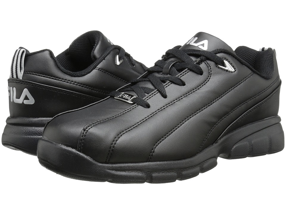 Fila - Leverage (Black/Metallic Silver) Men's Shoes