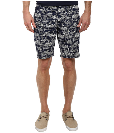 Original Penguin - Hawaii Printed Short (Dress Blues) Men
