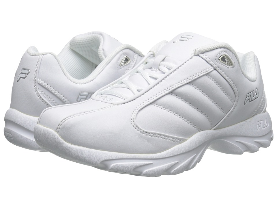 Fila - Torino 3 (White/White/Metallic Silver) Men's Shoes