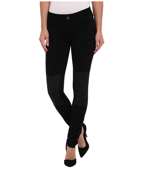 Mavi Jeans - Serena Lowrise Super Skinny in Black Jeather Patch (Black Jeather Patch) Women