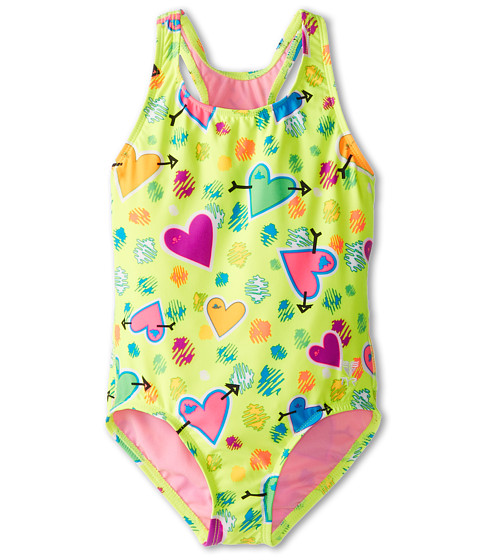 TYR - Heart Beat Mini Maxfit (Little Kids/Big Kids) (Yellow) Women's Swimsuits One Piece