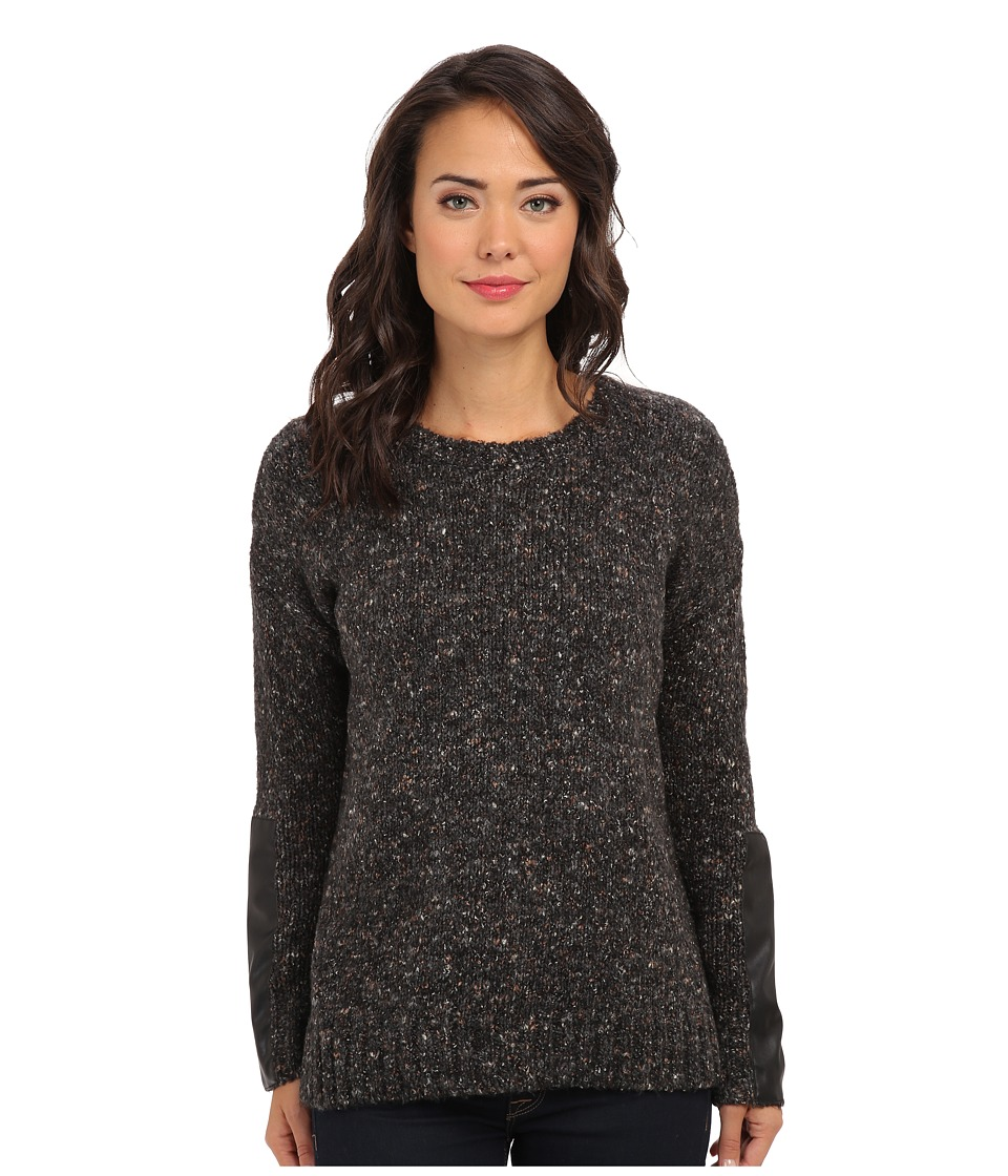kensie - Brushed Mixed Knit Sweater KS0K5573 (Black Combo) Women's Sweater