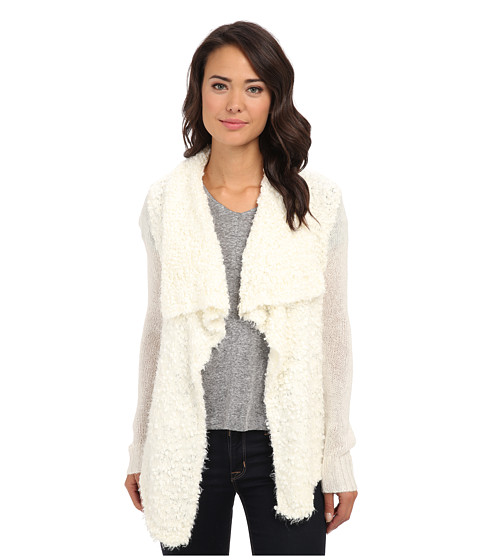 kensie - Chubby Fur Cardigan KS0K5575 (String Combo) Women's Sweater