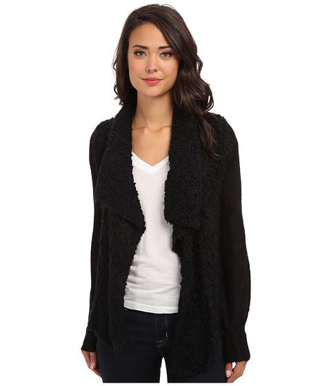 kensie - Chubby Fur Cardigan KS0K5575 (Black Combo) Women's Sweater
