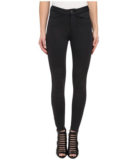 Mavi Jeans - Adriana Moto Midrise Skinny Scuba Biker Ankle in Black Scuba (Black Scuba) Women