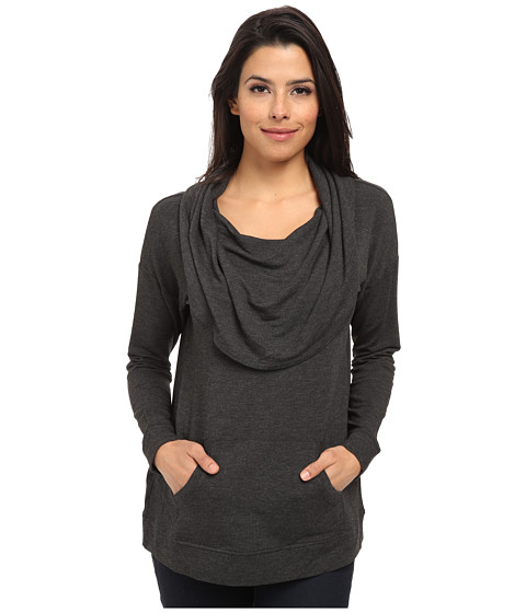 kensie - Drapey French Terry Sweatshirt KSNP3484 (Heather Charcoal) Women's Sweatshirt