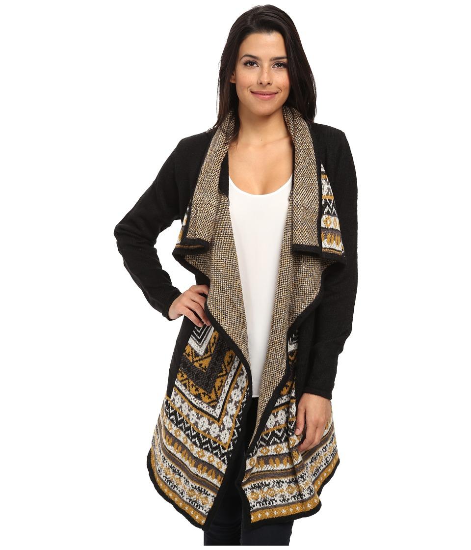 kensie - Tissue Knit Cardigan KSNK5627 (Black Combo) Women