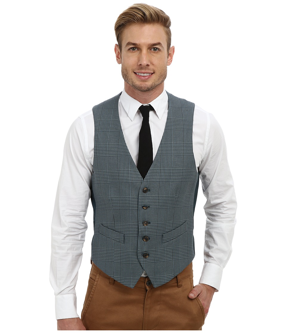 Mr.Turk - Irving Vest in Olive (Blue) Men
