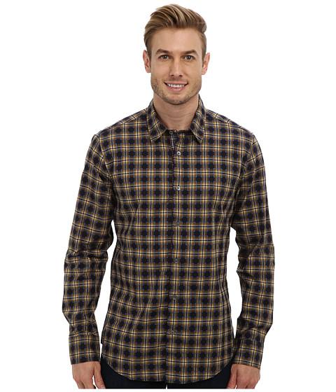 Mr.Turk - Aaron L/S Plaid Shirt (Mustard) Men
