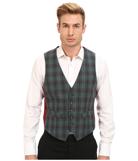 Mr.Turk - Irving Vest in Olive (Turquoise 1) Men