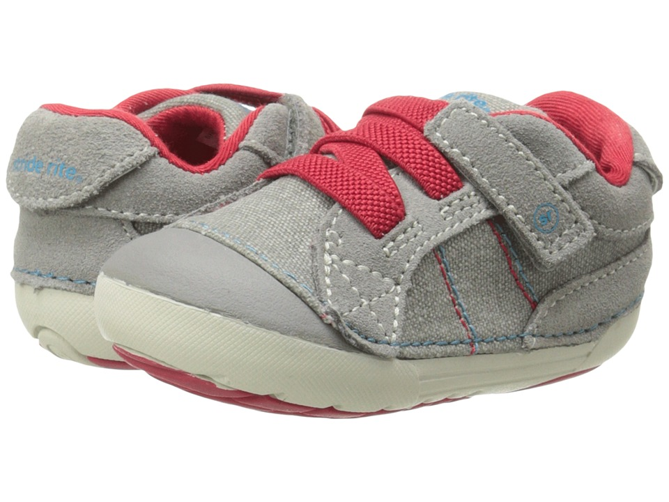 Stride Rite - SRT SM Goodwin (Infant/Toddler) (Grey/Red) Boys Shoes