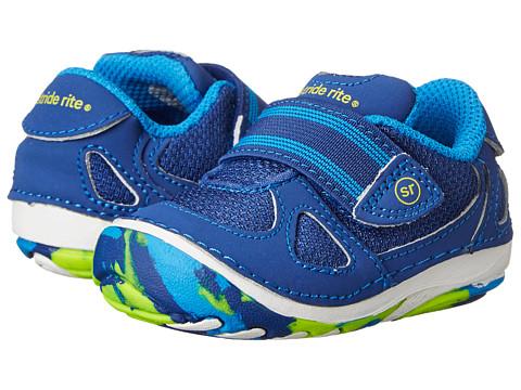 Stride Rite - SRT SM Link (Infant/Toddler) (Blue/Citron) Boys Shoes