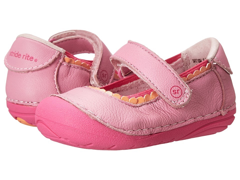 Stride Rite - SRT SM Savanah (Infant/Toddler) (Pink) Girls Shoes