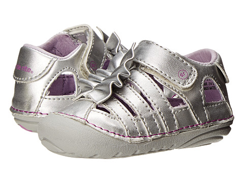 Stride Rite - SRT SM Nisha (Infant/Toddler) (Silver) Girls Shoes