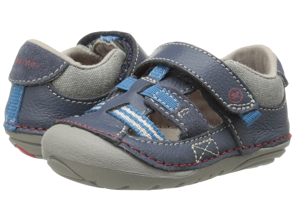 Stride Rite - SRT SM Antonio (Infant/Toddler) (Navy) Boys Shoes