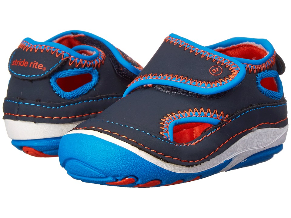 Stride Rite - SRT SM Crash (Infant/Toddler) (Navy/Orange) Boys Shoes