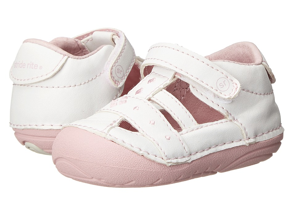Stride Rite - SRT SM Lynden (Infant/Toddler) (White) Girls Shoes