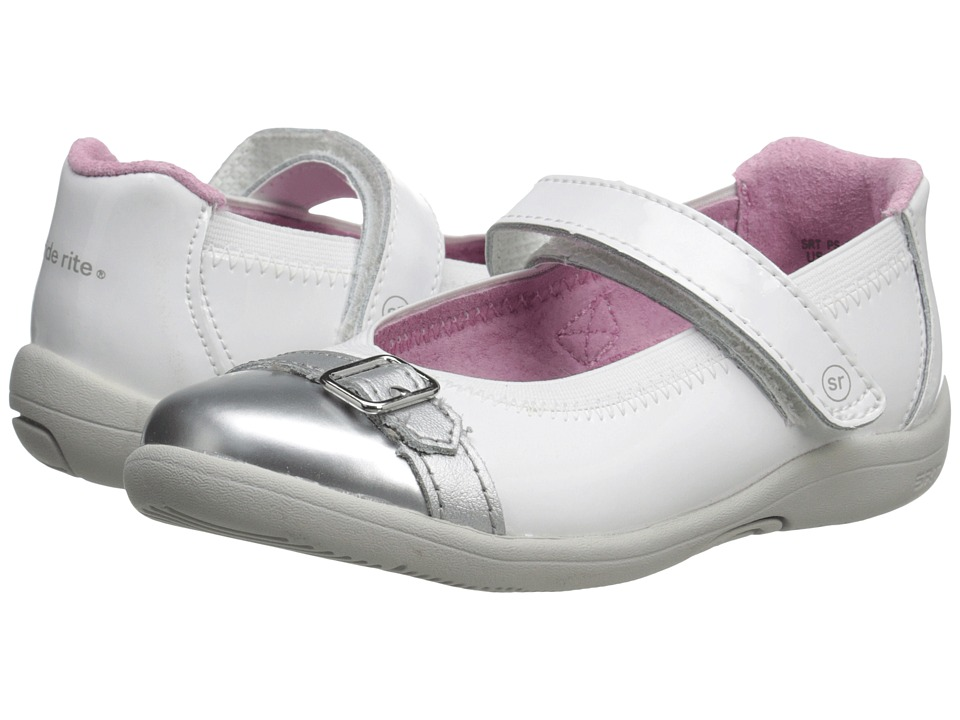 Stride Rite - SRT PS Chandra (Toddler/Little Kid) (White/Silver) Girls Shoes
