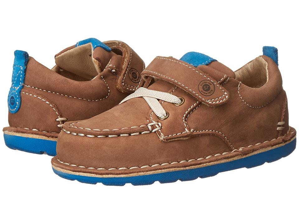 Stride Rite - Medallion Collection Hamilton (Toddler) (Tan/Blue) Boys Shoes
