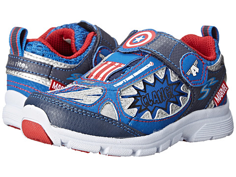 Stride Rite - Marvel Avengers - Captain America (Toddler) (Navy) Boys Shoes