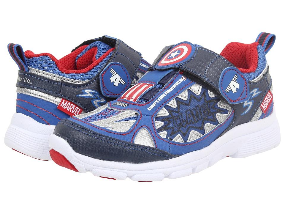 Stride Rite - Marvel Avengers - Captain America (Toddler/Little Kid) (Navy) Boys Shoes