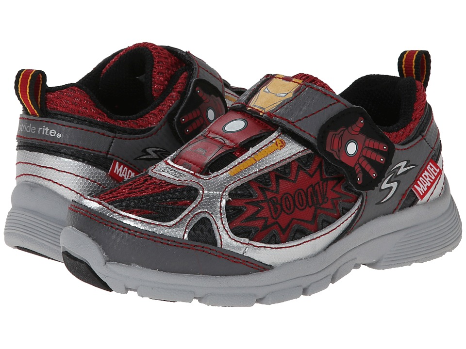 Stride Rite - Marvel Avengers - Iron Man (Toddler/Little Kid) (Grey/Red) Boys Shoes