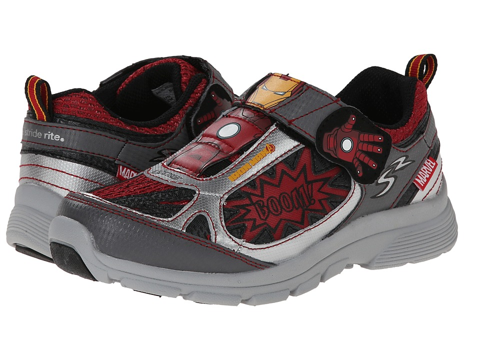 Stride Rite - Marvel Avengers - Iron Man (Little Kid) (Grey/Red) Boys Shoes