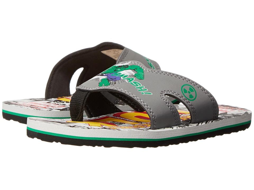 Stride Rite Hulk Thong EVA (Little Kid) (Grey/Green) Boys Shoes