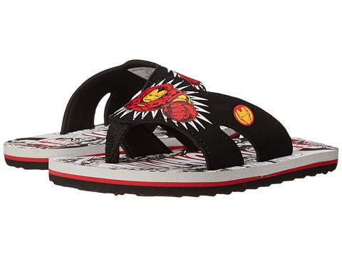 Stride Rite - Iron Man Thong EVA (Toddler/Little Kid) (Black/Red) Boys Shoes