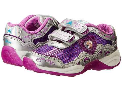 Stride Rite - Disney Wish Lights Anna Elsa HL (Toddler) (Magenta/Silver) Girls Shoes