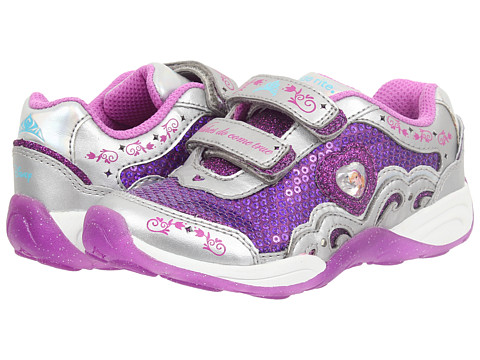 Stride Rite - Disney Wish Lights Anna Elsa HL (Toddler/Little Kid) (Magenta/Silver) Girls Shoes