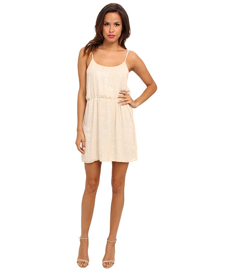 Aryn K - Sequin Mini Dress (Ivory) Women's Dress