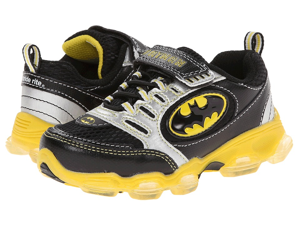 Stride Rite - Batman (Toddler/Little Kid) (Black/Yellow) Boys Shoes