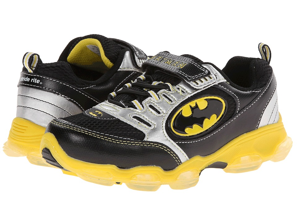 Stride Rite - Batman (Little Kid) (Black/Yellow) Boys Shoes