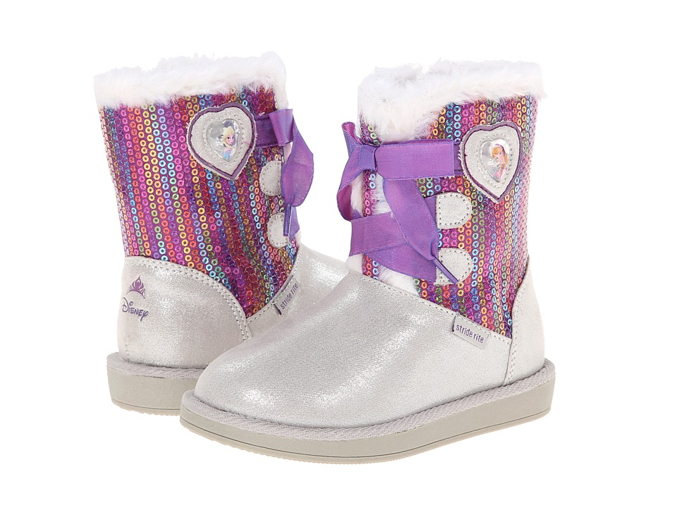 Stride Rite Disney Frozen Cozy Boot (Toddler/Little Kid) (Sliver/Purple) Girls Shoes