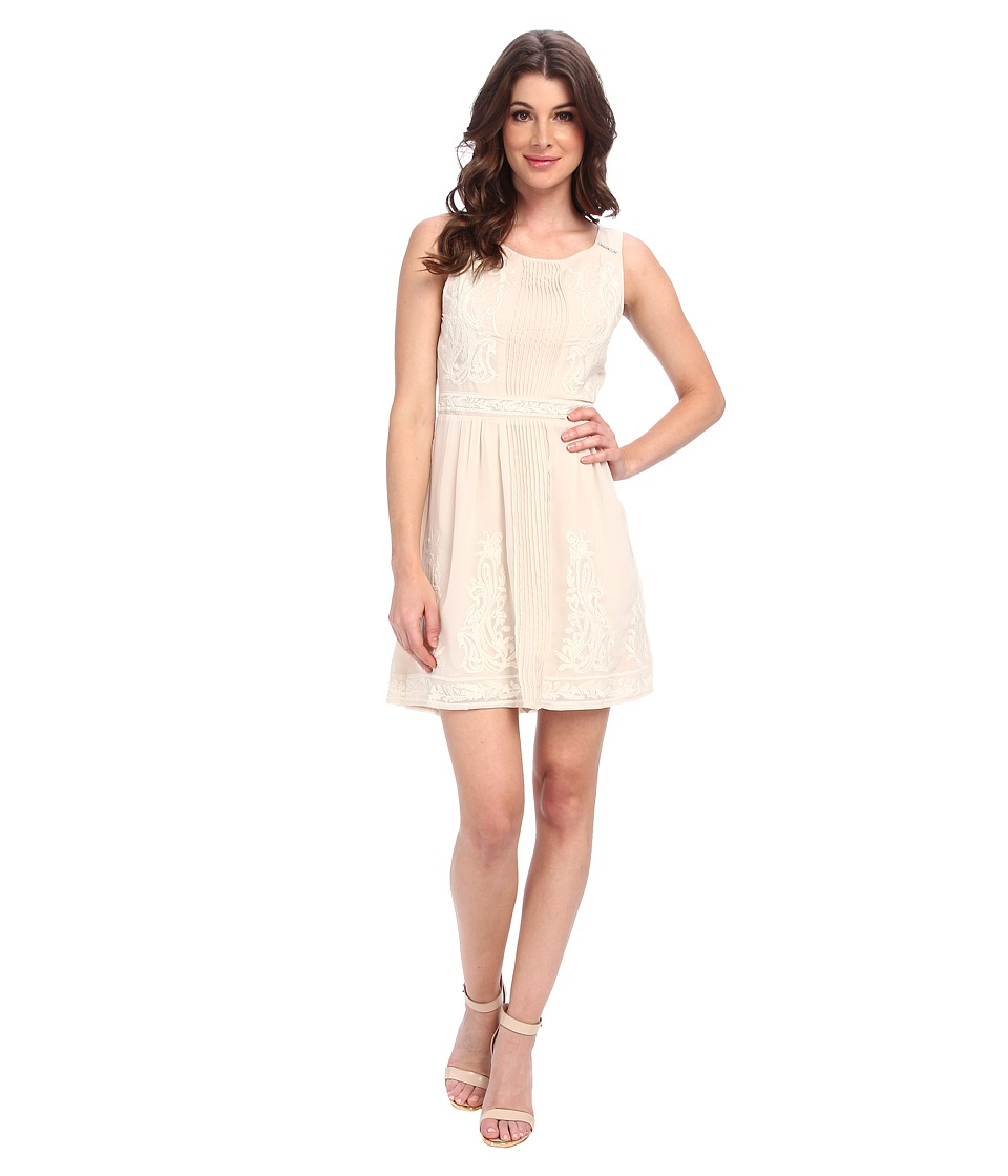 Aryn K - Embrodered Mini Dress (Ivory) Women's Dress