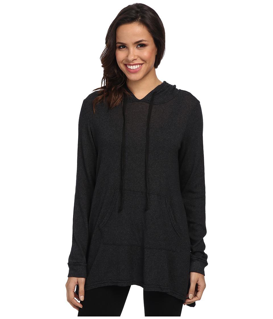 Allen Allen - Long Sleeve Angled Hoodie (Black) Women's Sweatshirt