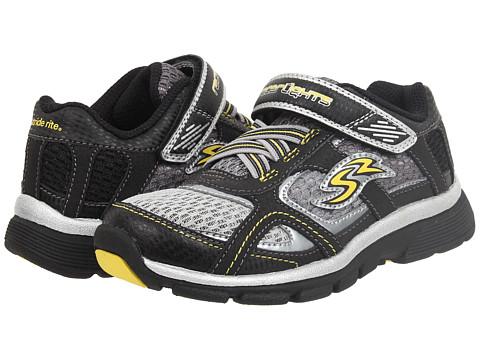 Stride Rite - Racer Lights Lightning (Toddler/Little Kid) (Black/Grey/Yellow) Boys Shoes