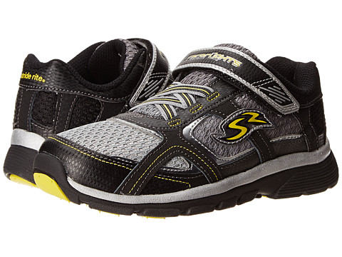 Stride Rite - Racer Lights Lightning (Little Kid) (Black/Grey/Yellow) Boys Shoes