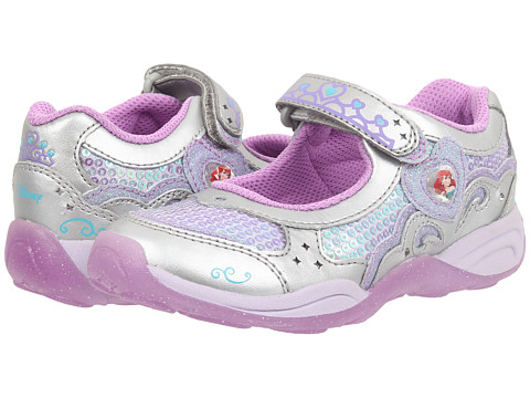 Stride Rite - Disney Wish Lights Ariel MJ (Toddler/Little Kid) (Silver/Lilac) Girls Shoes